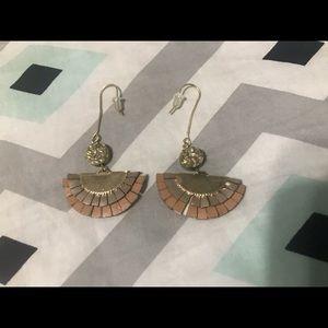 ANTHROPOLOGIE fan earrings